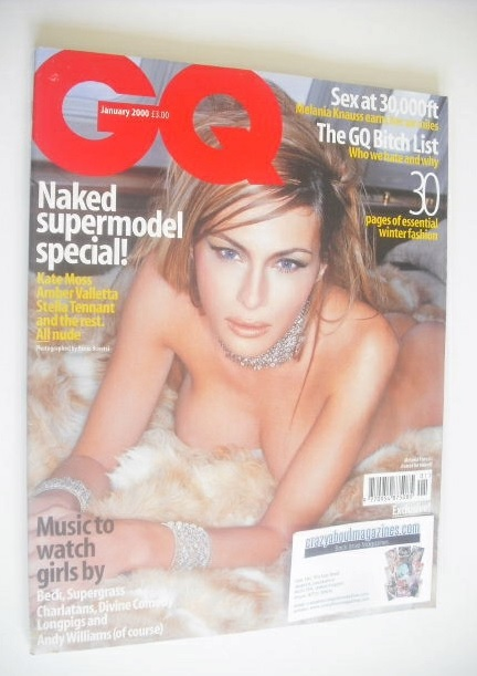 <!--2000-01-->British GQ magazine - January 2000 - Melania Knauss cover