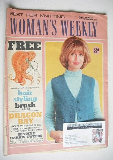<!--1968-09-21-->Woman's Weekly magazine (21 September 1968)