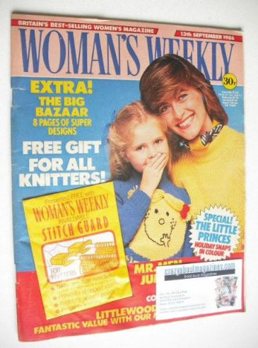 <!--1986-09-13-->Woman's Weekly magazine (13 September 1986 - British Editi