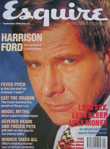 Esquire magazine - Harrison Ford cover (September 1993)