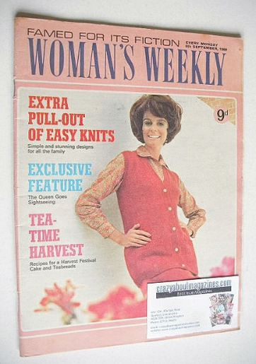 <!--1969-09-06-->Woman's Weekly magazine (6 September 1969)