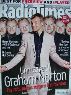 <!--2010-05-29-->Radio Times magazine - Graham Norton cover (29 May - 4 Jun
