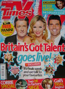 <!--2010-05-29-->TV Times magazine - Piers Morgan, Amanda Holden and Simon