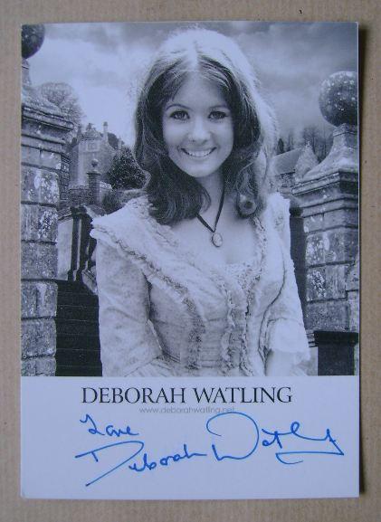 Deborah Watling autograph (hand-signed photograph)