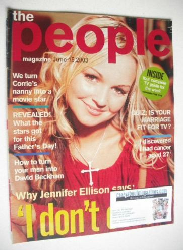<!--2003-06-15-->People magazine - 15 June 2003 - Jennifer Ellison cover