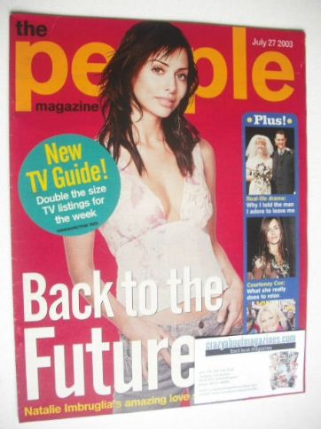 <!--2003-07-27-->People magazine - 27 July 2003 - Natalie Imbruglia cover