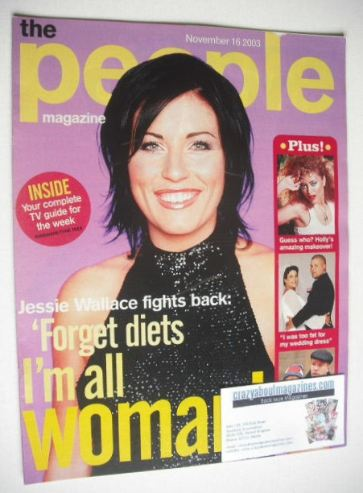 <!--2003-11-16-->People magazine - 16 November 2003 - Jessie Wallace cover