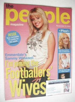 The People magazine - 23 November 2003 - Sammy Winward cover