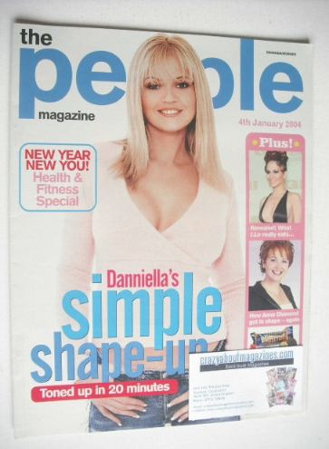 <!--2004-01-04-->People magazine - 4 January 2004 - Danniella Westbrook cov