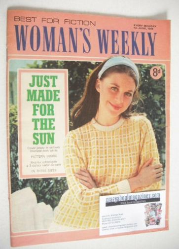 <!--1968-06-01-->Woman's Weekly magazine (1 June 1968)