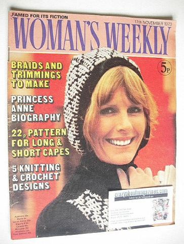 <!--1973-11-17-->Woman's Weekly magazine (17 November 1973)