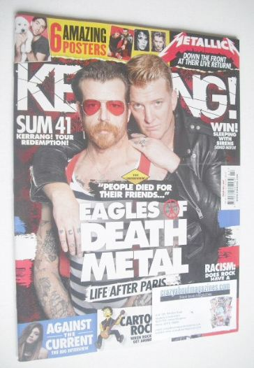 <!--2016-02-20-->Kerrang magazine - Eagles Of Death Metal cover (20 Februar