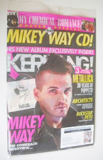 <!--2016-03-10-->Kerrang magazine - Mikey Way cover (12 March 2016 - Issue