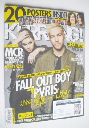 <!--2016-03-19-->Kerrang magazine - PVRIS & Fall Out Boy cover (19 March 20