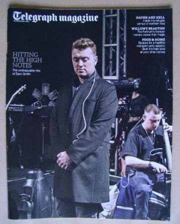 <!--2014-11-29-->Telegraph magazine - Sam Smith cover (29 November 2014)