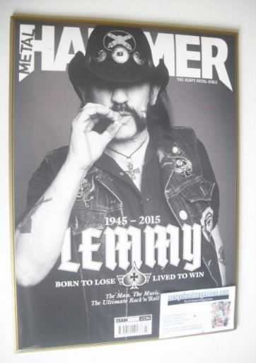 <!--2016-03-->Metal Hammer magazine - Lemmy cover (March 2016)