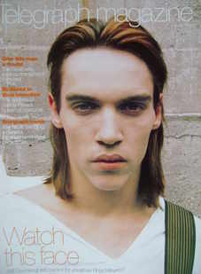 <!--2000-01-08-->Telegraph magazine - Jonathan Rhys Meyers cover (8 January