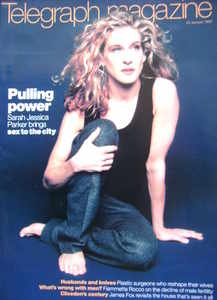 <!--1999-01-23-->Telegraph magazine - Sarah Jessica Parker cover (23 Januar