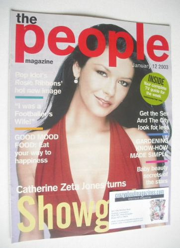 <!--2003-01-12-->People magazine - 12 January 2003 - Catherine Zeta Jones c