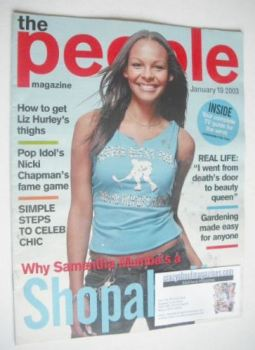 The People magazine - 19 January 2003 - Samantha Mumba cover