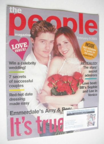 <!--2003-02-09-->People magazine - 9 February 2003 - Ben Freeman and Amy Nu
