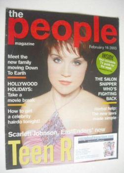 The People magazine - 16 February 2003 - Scarlett Johnson cover