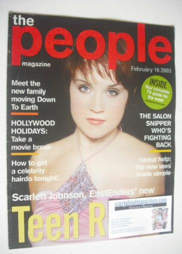 <!--2003-02-16-->People magazine - 16 February 2003 - Scarlett Johnson cove