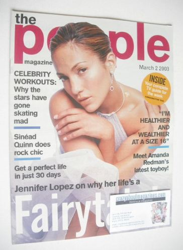 <!--2003-03-02-->People magazine - 2 March 2003 - Jennifer Lopez cover