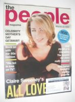 <!--2003-03-23-->The People magazine - 23 March 2003 - Claire Sweeney cover
