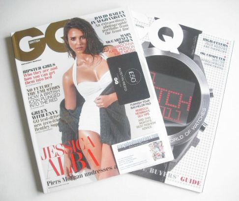 <!--2010-11-->British GQ magazine - November 2010 - Jessica Alba cover