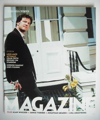 <!--2004-08-07-->The Times magazine - Colin Firth cover (7 August 2004)