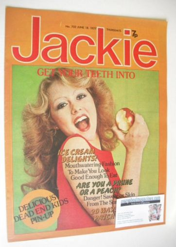 <!--1977-06-18-->Jackie magazine - 18 June 1977 (Issue 702)