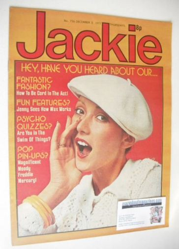 <!--1977-12-03-->Jackie magazine - 3 December 1977 (Issue 726)