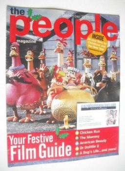 The People magazine - 15 December 2002 - Chicken Run cover