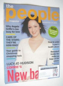 The People magazine - 24 November 2002 - Lucy-Jo Hudson cover