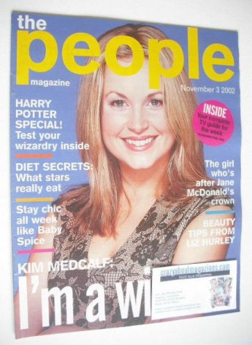 <!--2002-11-03-->The People magazine - 3 November 2002 - Kim Medcalf cover