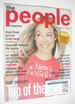 The People magazine - 27 October 2002 - Cat Deeley cover