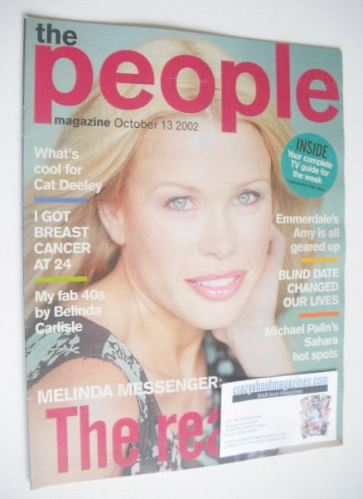 <!--2002-10-13-->The People magazine - 13 October 2002 - Melinda Messenger