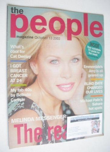 <!--2002-10-13-->The People magazine - 13 October 2002 - Melinda Messenger