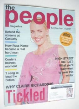 The People magazine - 15 September 2002 - Claire Richards cover