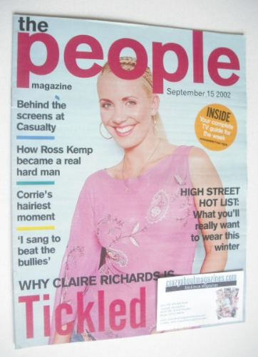 <!--2002-09-15-->The People magazine - 15 September 2002 - Claire Richards
