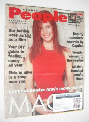 <!--2002-08-11-->Sunday People magazine - 11 August 2002 - Amy Nuttall cove