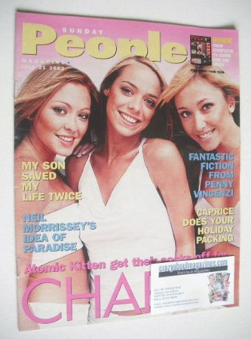 <!--2002-07-21-->Sunday People magazine - 21 July 2002 - Atomic Kitten cove
