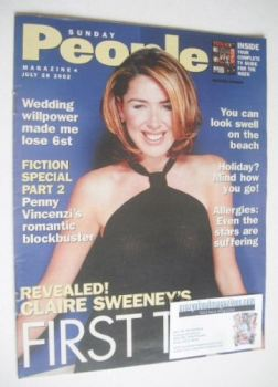 Sunday People magazine - 28 July 2002 - Claire Sweeney cover