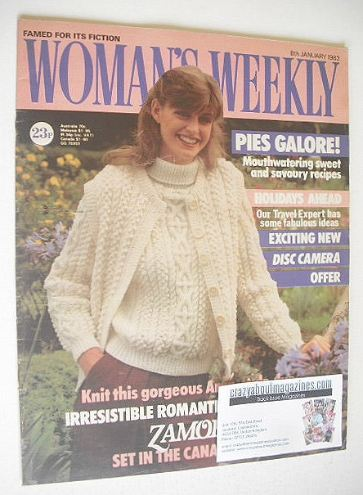 <!--1983-01-08-->Woman's Weekly magazine (8 January 1983 - British Edition)