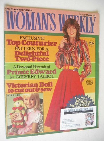<!--1982-09-25-->Woman's Weekly magazine (25 September 1982 - British Editi