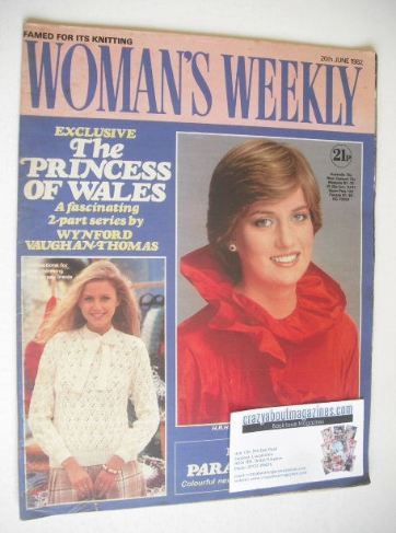 <!--1982-06-26-->Woman's Weekly magazine (26 June 1982 - Princess Diana cov