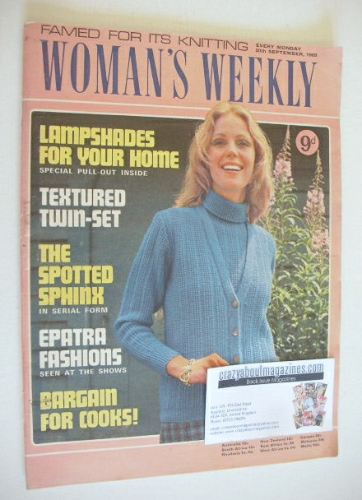 <!--1969-09-20-->Woman's Weekly magazine (20 September 1969)