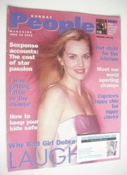 Sunday People magazine - 23 June 2002 - Debra Stephenson cover