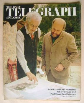 The Daily Telegraph magazine - Robert Graves and Paul Hogarth cover (8 December 1972)